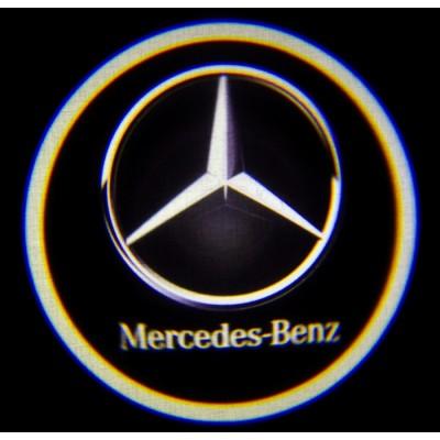 Подсветка дверей авто - Mercedes-Benz