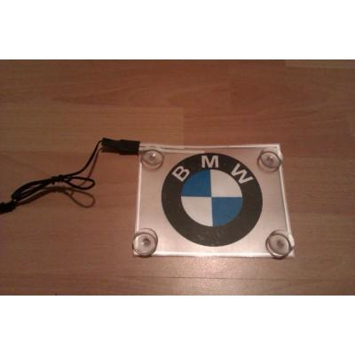 Неоновый лого авто - BMW