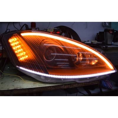 Дневные ходовые огни SL LED, гибкая лента с указателем поворота в фары 60 см. Премиум