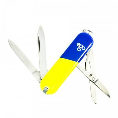 Нож Ego A03 брелок, синежелтый