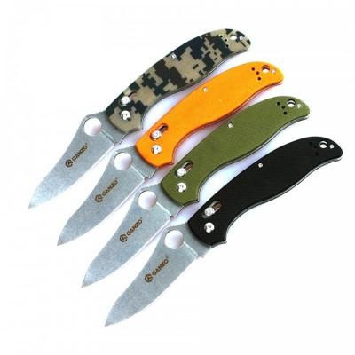 Нож Ganzo G733 (черный, зеленый, оранжевый, камуфляж)