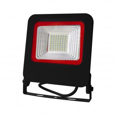 Светодиодный EUROELECTRIC LED SMD Прожектор черный с радиатором NEW 50W 6500K