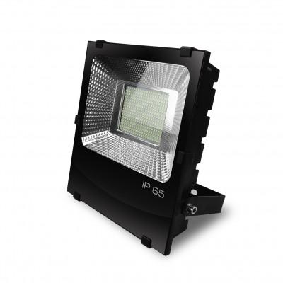 Светодиодный EUROELECTRIC LED SMD Прожектор черный с радиатором 200W 6500K