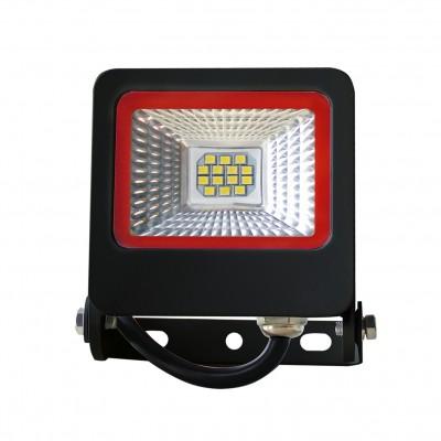 Светодиодный EUROELECTRIC LED SMD Прожектор черный с радиатором NEW 10W 6500K