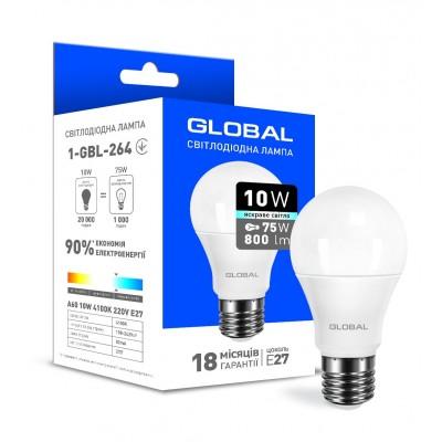 Светодиодная лампа Global A60 10W яркий свет E27
