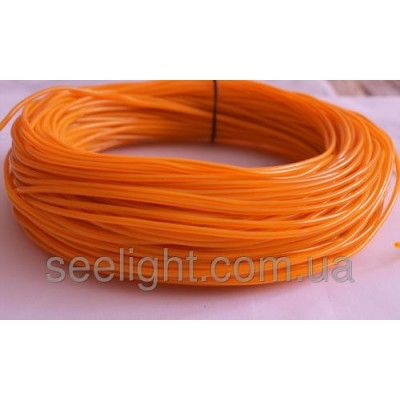 Электролюминесцентный провод (холодный неон) III поколение, диаметр- 2.2мм., цвет- Желтый