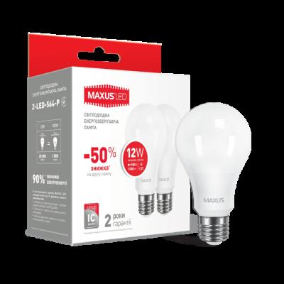 LED лампа MAXUS A65 12W яркий свет 220V E27 1-LED-564-P) (NEW)