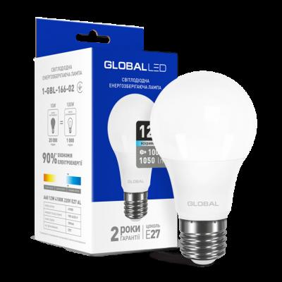 LED лампа GLOBAL A60 12W яркий свет 220V E27 AL (1-GBL-166-02)