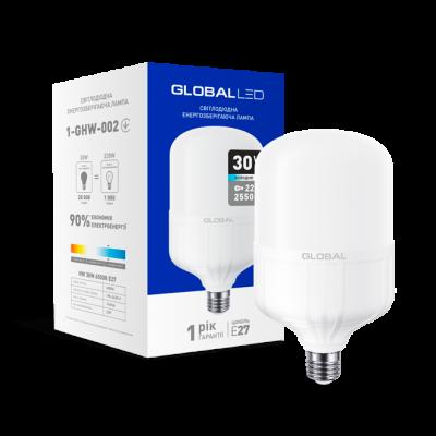 LED лампа HW GLOBAL 30W 6500K E27 (1-GHW-002) (NEW)