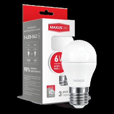 LED лампа G45 6W яркий свет 220V E27 (1-LED-542) (NEW)