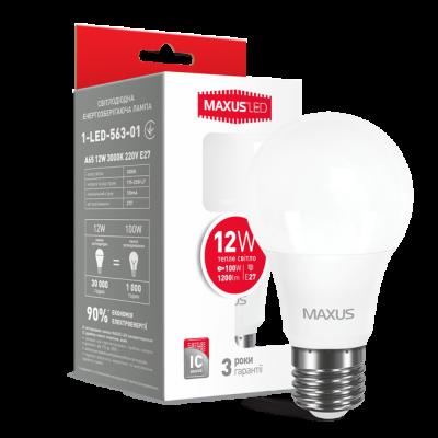 LED лампа MAXUS A65 12W мягкий свет 220V E27 (1-LED-563-01)