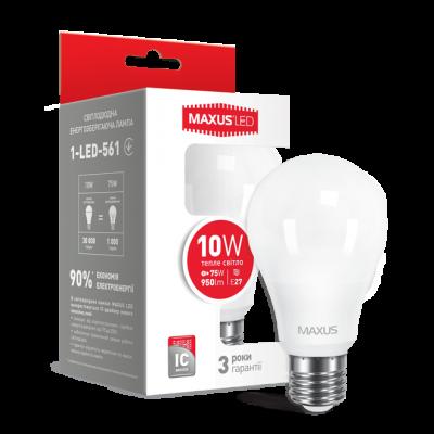 LED лампа A60 10W мягкий свет 220V E27 (1-LED-561) (NEW)