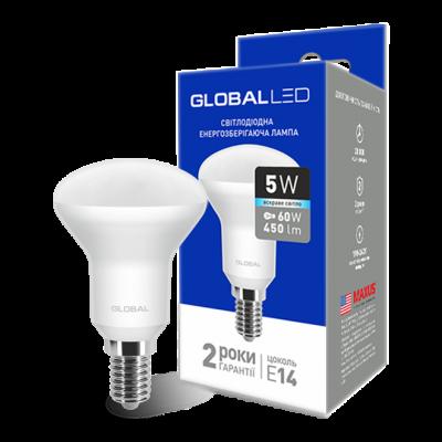 LED лампа GLOBAL R50 5W яркий свет 220V E14 (1-GBL-154-02)