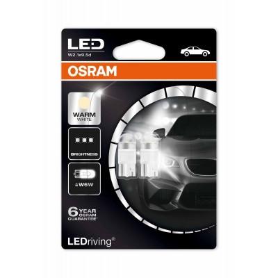Автомобильные светодиодные лампы OSRAM LEDriving - Premium, цоколь W5W, Т10, W2,1x9.5d, модель 2850WW-02B)