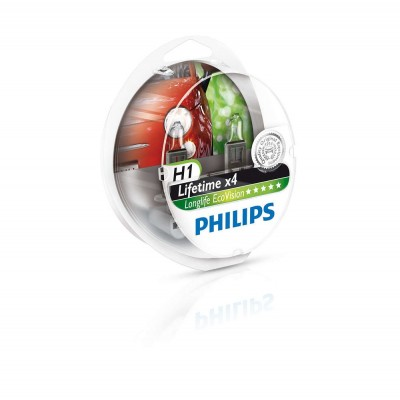 Галогенная лампа H1 Philips 12258LLECOS2 LongLife EcoVision