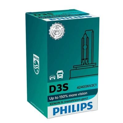 Ксеноновая лампа D3S Philips 42403XV2C1 X-tremeVision gen2 +150%