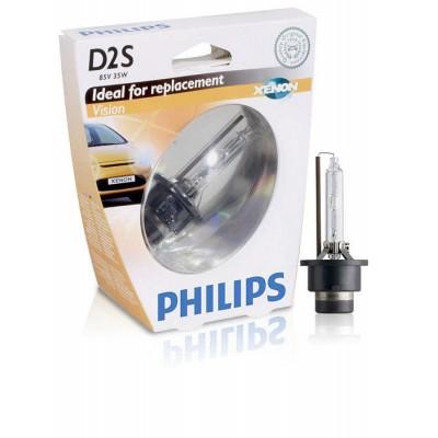 Лампа ксеноновая Philips D2S Vision, 4600K, 1шт/блистер