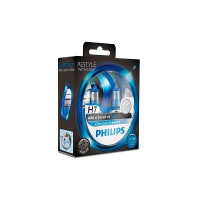 Галогенная лампа H7 Philips 12972CVPBS2 ColorVision голубой
