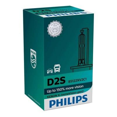 Ксеноновая лампа D2S Philips 85122XV2C1 X-tremeVision gen2 +150%