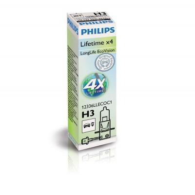 Галогенная лампа H3 Philips 12336LLECOC1 LongLife EcoVision +10%