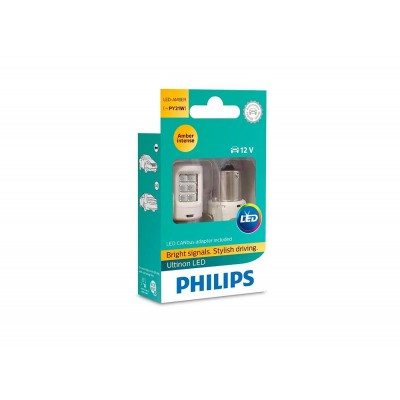 Светодиодные лампы PY21W Philips 11498ULAX2 Ultinon LED (Amber)