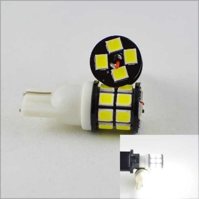 Светодиодная лампа в габарит SLP LED под цоколь W5W(T10) 20 светодиодов типа 2835 9-30 В. Белый