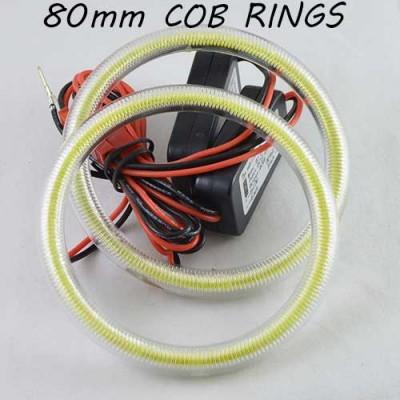 Светодиодные кольца (ангельские глазки) 80-72мм., COB с рассеивателями