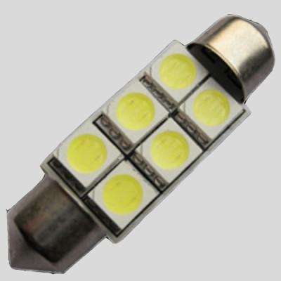 Светодиодная автомобильная лампа SV8.5-42MM-5050-6-NW