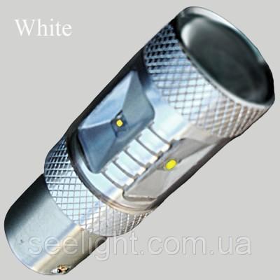 Автомобильная Led лампа в задний ход цоколь P21W/1156 Cree 30W 10-30V белый 6000K