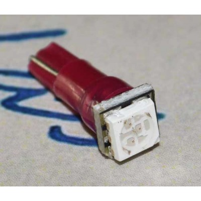 Автомобильная лампа T5 5050-1 Красный