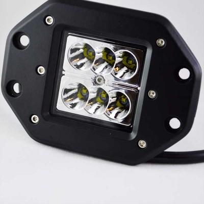 Дополнительный светодиодный прожектор для монтажа в бампер, кузов 24W Cree 10-30V Flood