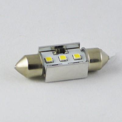 Светодиодная автомобильная лампа с встроеной обманкой бортового компьютера SV8,5(C5W) 36mm samsung 3W Белый