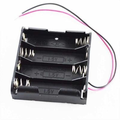 Кассета для 4 батареек типа АA плоская