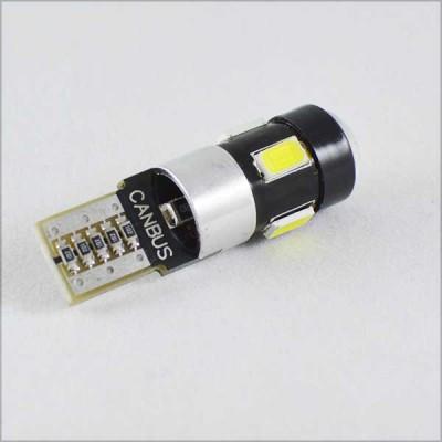 Автомобильная лампа SLS LED C обманкой в габарит с цоколем T10(W5W) 6- 5630 9-16V Белый