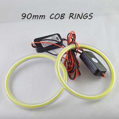 Светодиодные кольца (ангельские глазки) 90-82мм., COB с рассеивателями