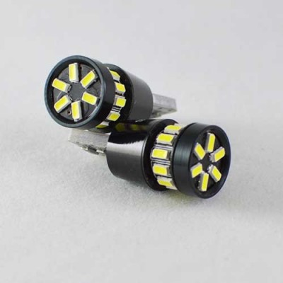 Светодиодная лампа в габарит SLS LED с обманкой под цоколь W5W(T10) 18 светодиодов типа 3014, 12 В. Белый
