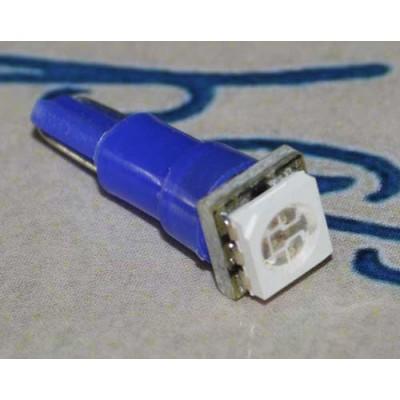 Автолампа с цоколем T5 5050-1 Синий