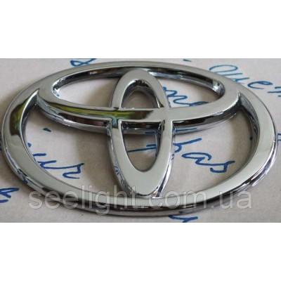 Автомобильный логотип Toyota 12*8 см. Хром накладнка