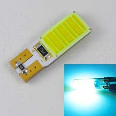 Светодиодная автомобильная лампа SL LED Цоколь T10 (W5W) с обманкой компьютера 12С COB 3W Голубой