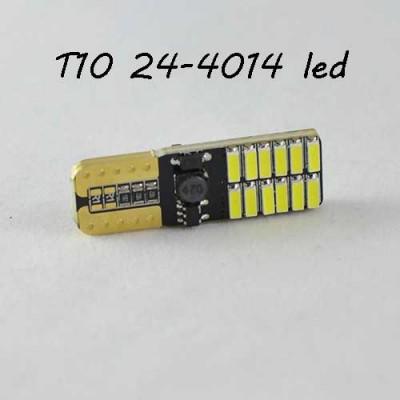 Лед лампа в габарит SLS LED, с обманкой Can шины, цоколь W5W(T10) 24 светодиода типа 4014 12 В. Белый