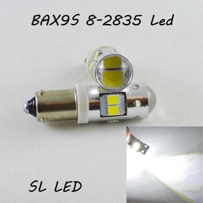 Светодиодная автомобильная лампа SLP LED в габариты с цоколем BAX9S(H6W) 8-2835 led