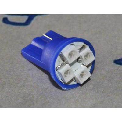 Автолампа с цоколем W5W/T10 1210-4 Синий