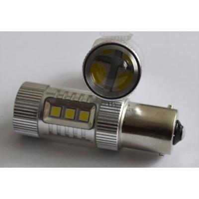 Светодиодная лампа в задних ход автомобиля с цоколем 1156(BA15S,P21W) 64W 9-30V 900lm Белый
