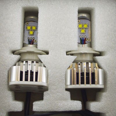 Комплект светодиодных ламп в основные фонари под цоколь Н7 30W 3000 Люмен лампа