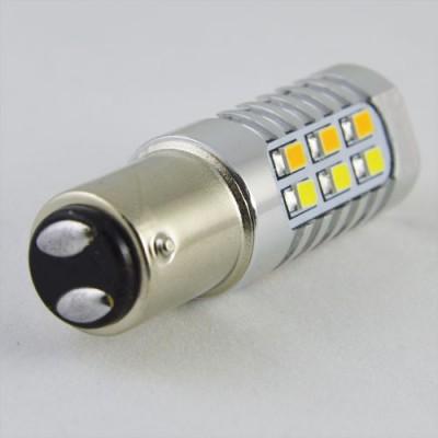 Светодиодная автомобильная лампа SLP LED с цоколем 1157(P21/5W)(BAY15D) 22-2835 жёлтый/белый