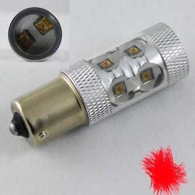 Светодиодная автомобильная лампа с цоколем 1156 (P21W)(BA15S) Osram LH CPDP 30W 9-30V-Красный