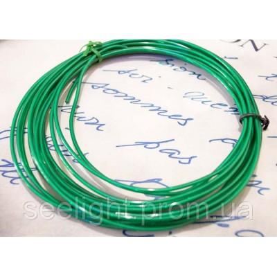 Электролюминесцентный провод (холодный неон) III поколение, диаметр- 2.6мм., цвет- зеленый