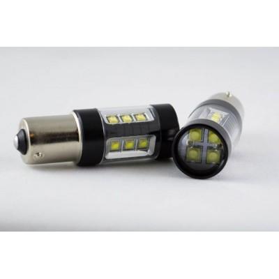 Автомобильная лампа со светодиодами Osram в задний ход автомобиля с цоколем 1156(BA15S,P21W) 80W 950lm Белый