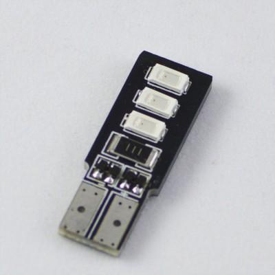 Светодиодная лампа в повторитель поворота с обманкой T10(WY5W) 6-5630 12V Желтый