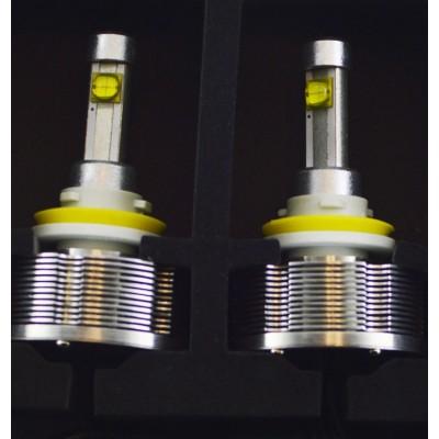 Комплект светодиодных ламп в основные фонари под цоколь Н11/H8 30W 3000 Люмен/комплект
